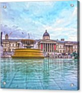 Trafalgar Square Fountain London 8 Acrylic Print