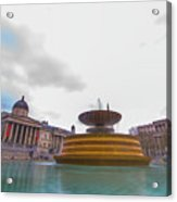 Trafalgar Square Fountain London 9 Acrylic Print