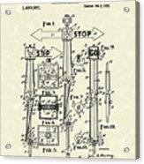 Traffic Signal 1922 Patent Art Acrylic Print