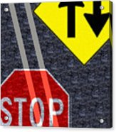 Traffic Signs Acrylic Print