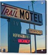 Trail Motel At Sunset Acrylic Print