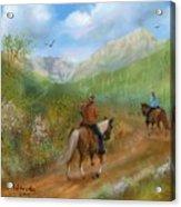Trail Ride In Sabino Canyon Acrylic Print