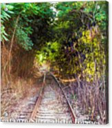 Trails Of Tracks Acrylic Print