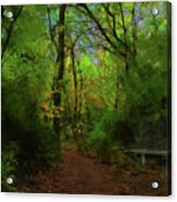 Trailside Bench Acrylic Print