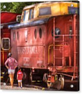 Train - Car - Pennsylvania Northern Region Caboose 477823 Acrylic Print