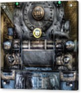 Train - Engine -1218 - Norfolk Western Class A - 1218 - Front View Acrylic Print