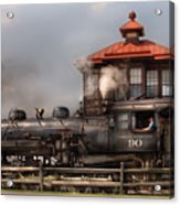 Train - Engine -the Great Western 90 Acrylic Print by Mike Savad