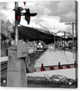 Train A Comin Acrylic Print