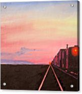 Train At Sundown Acrylic Print