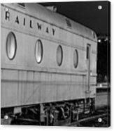 Train Car, Black And White Acrylic Print