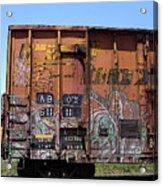 Train Car Graffiti 1 Acrylic Print
