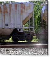 Train Cars With Light Spots Acrylic Print