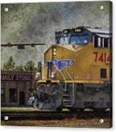 Train Coming Through Acrylic Print