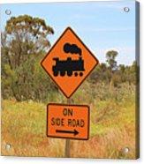 Train Engine Locomotive Sign Acrylic Print