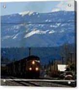 Train Entering Truckee California Acrylic Print