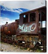 Train Graveyard Uyuni Bolivia 16 Acrylic Print