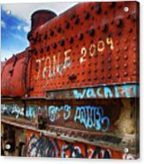 Train Graveyard Uyuni Bolivia 17 Acrylic Print