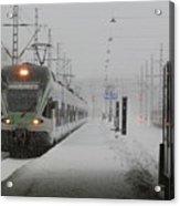Train In Helsinki Acrylic Print