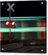 Train In Motion Acrylic Print