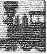 Train Mosaic Acrylic Print
