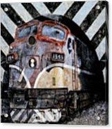 Train Mural Acrylic Print