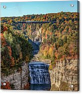 Train Over Letchworth Acrylic Print