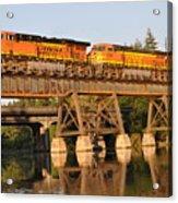 Train Over Water Acrylic Print
