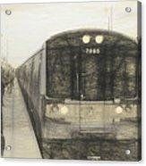 Train Sketch Acrylic Print