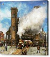 Train Station - Boston And Maine Railroad Depot 1910 Acrylic Print