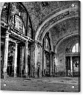Train Station Lobby Decay Acrylic Print