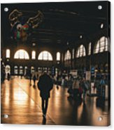 Train Station Sunset Acrylic Print