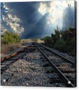 Train Track Junction In Charleston Sc Acrylic Print