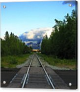 Train Tracks Anchorage Alaska Acrylic Print