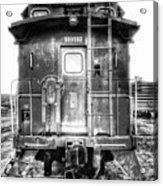 Train Waiting In Atchison Kansas Acrylic Print