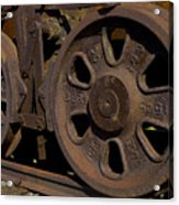 Train Wheels At Eckley Village Acrylic Print