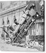 Train Wreck At Montparnasse Station Acrylic Print
