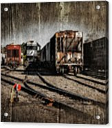 Train Yard Acrylic Print