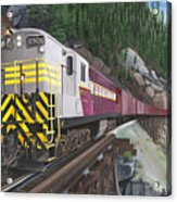 Trainmaster At Myra Acrylic Print