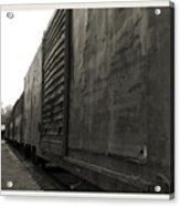 Trains 12 Platinum Border Acrylic Print