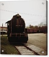Trains 3 Retro Acrylic Print