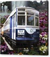 Trains Brookfield Zoo Trolley Car 141 Acrylic Print