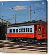 Trains Chicago Aurora Elgin Trolley Car 409 Acrylic Print