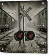 Trains Crossing Acrylic Print