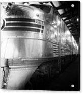 Trains Emd E5 Diesel Locomotive Bw Acrylic Print