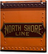 Trains North Shore Line Chicago Signage Acrylic Print