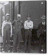 Trainsmen Acrylic Print