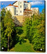 Trakoscan Castle And Green Lake  Acrylic Print