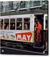 Tram 223, Graca, Lisbon, 1972 Acrylic Print
