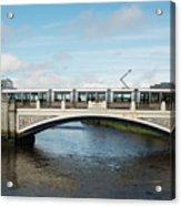 Tram On The Sean Heuston Bridge Acrylic Print