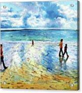 Tramore Beach Waterford Acrylic Print